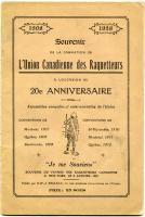 Souvenir booklet, L'Union Canadienne des Raquetteurs, 1928