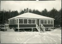 Les Diables Rouges clubhouse, Lewiston, ca. 1935