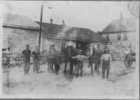 Kenneally Blacksmith Shop in Biddeford, ca. 1920