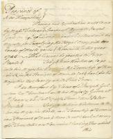 Benning Wentworth grant for cutting white pines, Portsmouth, 1744