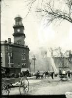 Testing a new fire engine, Biddeford, 1909