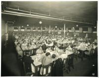 Dining hall, Pownal State School, ca. 1937