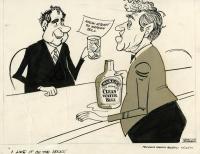 Muskie Clean Water Bill cartoon, 1971
