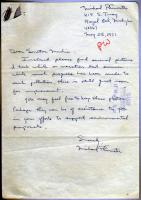 Letter to Muskie on environmental work, 1971
