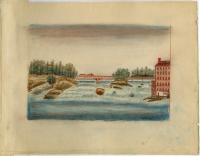 Sketch of Androscoggin River, ca. 1830