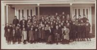 Students, Green Schoolhouse, New Portland, ca. 1900
