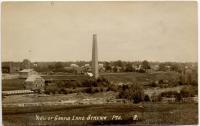 Tannery chimney, Grand Lake Stream, ca. 1914