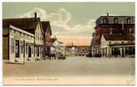 Post Office Square, Mechanic Falls, ca. 1910