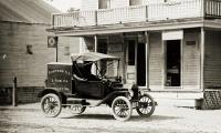 Eastern Illustrating Co. vehicle, E. Parsonsfield, ca. 1915