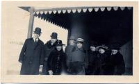 Good Will staff at railroad station, 1919