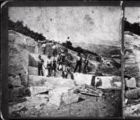 Quarry Workers At Mount Waldo, ca. 1850