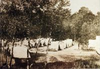 Camp of the First Connecticut at Fort Knox, Prospect, 1898