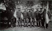 Officers of the First Connecticut Infantry at Fort Knox, 1898