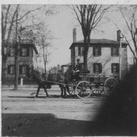 Horse and Carriage, Main Street, Saco, ca. 1900