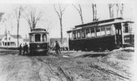 Derailed Trolleys, Yarmouth, ca. 1925