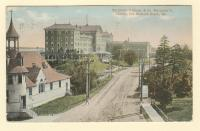 Old Orchard House and St. Margaret's Church, Old Orchard, ca. 1916