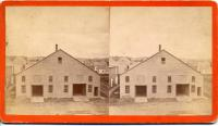 Livery Stable, Stereo View, Thomaston, 1870s