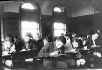 Students at the Charles E. Moody School, ca. 1915