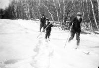 Skiing at Good Will Home, Fairfield, ca. 1920