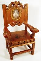 Child's chair with portrait, Portland, 1908