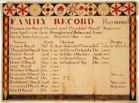 Small family record, Raymond, ca. 1840