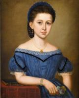 Girl in a blue dress, ca. 1860