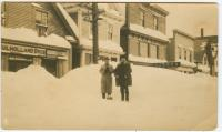 Water Street in snow, Lubec, ca. 1920