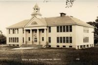 Thomaston Academy with added wings, Thomaston, after 1924