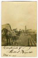Horse & Wagon, Lubec, 1907
