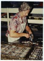 Edith Comstock, R.J. Peacock Canning Co., Lubec, 1980