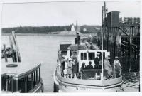 Ferry Lubec at Dock, Lubec, ca. 1935