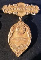 Centennial souvenir pin, Lubec, 1911