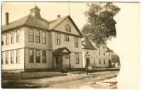 Hilltop School and Columbian Hall, Lubec, ca. 1910