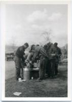 CCC crew lunch break, Augusta, 1935