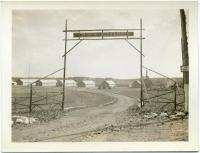 Jefferson CCC Camp gate, ca. 1933