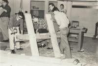 Christmas tree frame work, Presque Isle, 1959
