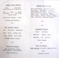 Store brochure, Islesboro, ca. 1960