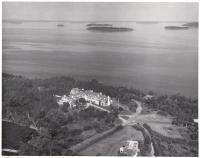 Second Islesboro Inn, aerial view, ca. 1950