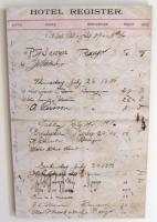 Hotel Register, Islesboro, 1898