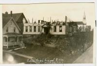 Burned high school, Lubec, 1913