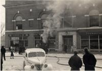 Brackett's Drugstore Fire, Thomaston, 1940