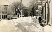 Winter on Main Street, Thomaston, 1952