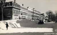 Snow storm, Main Street, Thomaston, 1952
