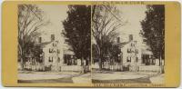 Stereoptic Card of The Titcomb-Linscott House, Farmington, ca. 1890