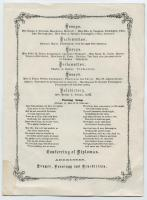 Maine State Normal School Souvenir Graduation Program, 1936 Replica of 1866 Program