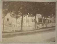 Lydia Abbott Titcomb and Pine Tree Cottage, Farmington,  ca. 1875