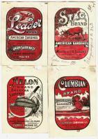 Sardine can labels, Lubec, 1909