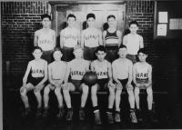 Burns School Basketball Team, Saco, 1932