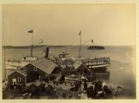 S.S. Cumberland at Dock, Lubec, 1893