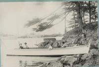 Launch Yakima on the Saco River, 1914